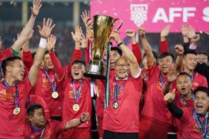 Đội tuyển bóng đá nam quốc gia giành Cúp vô địch tại giải vô địch bóng đá Đông Nam Á (AFF Suzuki Cup) sau 10 năm chờ đợi lọt vào 10 sự kiện văn hóa - thể thao năm 2018.