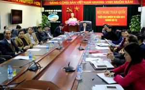 Các đại biểu tham dự Hội nghị trực tuyến tại điểm cầu Yên Bái