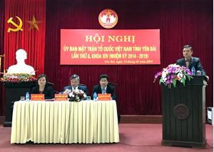 Đồng chí Dương Văn Thống – Phó Bí thư Thường trực Tỉnh ủy, Trưởng Đoàn Đại biểu Quốc hội tỉnh khóa XIV phát biểu tại Hội nghị.
