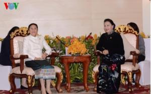 Chủ tịch Quốc hội hội kiến Chủ tịch Quốc hội CHDCND Lào.