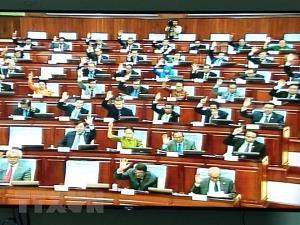 Một phiên họp quốc hội của Campuchia.