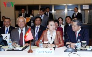 Chủ tịch Quốc hội Nguyễn Thị Kim Ngân, Phó Chủ tịch Quốc hội Uông Chu Lưu cùng đoàn cấp cao Quốc hội Việt Nam tại phiên bế mạc APPF 27.