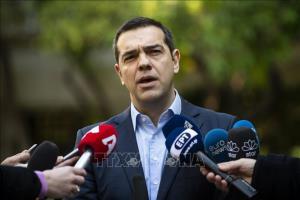 Thủ tướng Hy Lạp Alexis Tsipras phát biểu với báo giới tại thủ đô Athens ngày 13/1/2019.