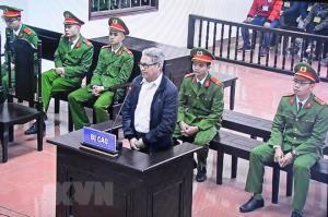 Bị cáo Đào Quang Thực tại phiên tòa.