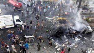 Hiện trường vụ nổ ở Idlib, SyriaHiện trường vụ nổ ở Idlib, Syria.