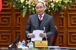 Thủ tướng Nguyễn Xuân Phúc phát biểu tại cuộc gặp mặt