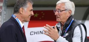 Lippi để thua Queiroz ở trận cuối cùng với tư cách HLV Trung Quốc.