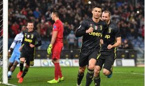 Ronaldo ghi bàn ấn định chiến thắng 2-1 cho Juventus.