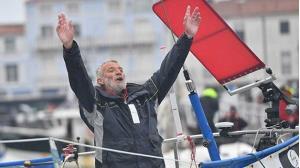 Jean-Luc Van Den Heede sau khi về đích ngày 29-1-2019 tại Les Sables d'Olonne, Pháp.
