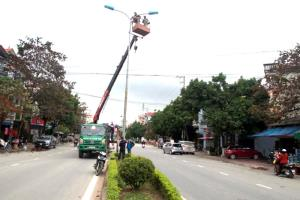 Công tác chỉnh trang đô thị chuẩn bị đón tết Nguyên đán đang tích cực được triển khai.