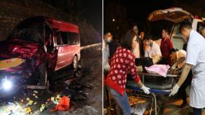 Các nạn nhân bị thương được đưa vào Bệnh viện Đa khoa tỉnh Lào Cai cấp cứu.