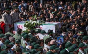 Đám tang của 1 thành viên Lực lượng vệ binh cách mạng Iran thiệt mạng trong vụ đánh bom