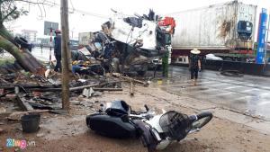 Hiện trường vụ đâm xe làm 1 người chết.
