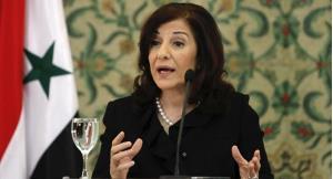 Bà Bouthaina Shaaban - Cố vấn cấp cao của Tổng thống Syria.