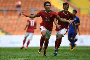 Niềm vui của các cầu thủ U22 Indonesia