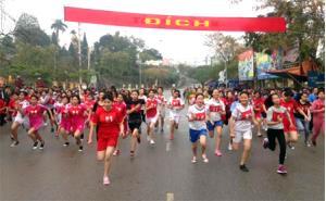 Nhiều VĐV xuất sắc được lựa chọn từ Giải chạy việt dã do thị xã tổ chức.