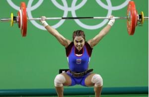 Vận động viên Sopita Tanasan, người giành Huy chương vàng cho đội tuyển Thái Lan tại Olympic Rio de Janeiro năm 2016.