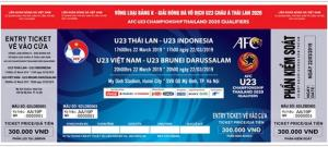 Vé xem vòng loại U23 châu Á tại Mỹ Đình.