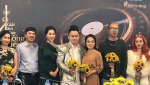 Các nghệ sĩ trong lễ công bố đề cử giải thưởng Âm nhạc cống hiến 2019.