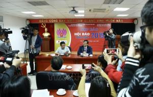 Quang cảnh họp báo.