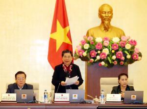 Phó Chủ tịch Thường trực Quốc hội Tòng Thị Phóng chủ trì phiên họp.