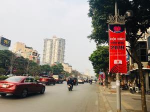 Băng rôn tuyên truyền sự kiện. Ảnh: Hội Nhà báo Việt Nam.
