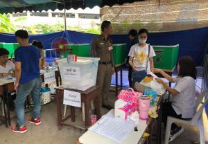 Một điểm bỏ phiếu bầu cử sớm ở Thái Lan.