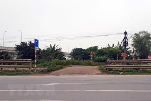 Vị trí xảy ra tai nạn tàu hỏa làm 2 người chết tại Nam Định.
