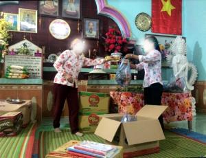 Cơ sở thờ tự không phép của bà Đỗ Thị Huệ ở thôn Đát Quang, xã Hưng Khánh.