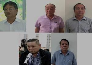 Các bị can vừa bị khởi tố trong vụ án.