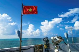 Chiến sỹ hải quân trên đảo Cô Lin trong ca gác trực sẵn sàng chiến đấu. (Ảnh: Đình Thi)