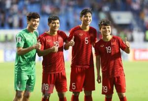 Các cầu thủ U23 Việt Nam.