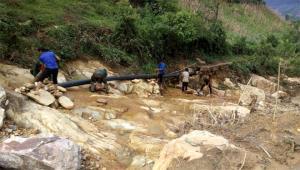 Công trình nước sạch Giàng A Trừ, xã Kim Nọi, huyện Mù Cang Chải được khắc phục sau cơn bão số 3, năm 2018.