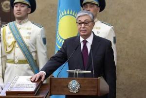 Ông Kassym - Jomart Tokayev tuyên thệ nhậm chức.