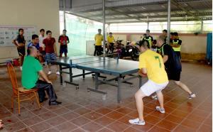 Đoàn viên thanh niên Sở Giao thông - Vận tải tổ chức thi đấu thể thao.
