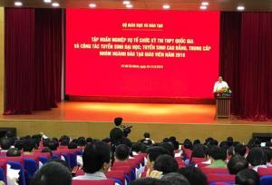 Hội nghị tập huấn nghiệp vụ tổ chức kỳ thi THPT quốc gia và công tác tuyển sinh ĐH,CĐ, TC nhóm ngành đào tạo giáo viên năm 2019.