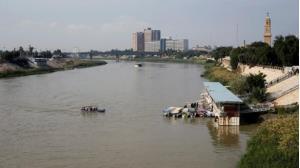 Sông Tigris, nơi xảy ra vụ chìm phà khiến ít nhất 54 người chết.