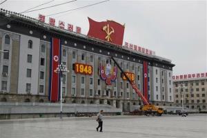 Quảng trường Kim II Sung tại thủ đô Bình Nhưỡng, Triều Tiên.