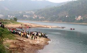 Khúc sông nơi các em học sinh bị đuối nước.