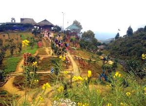 Khu du lịch Suối Giàng, huyện Văn Chấn là mô hình kinh tế tạo việc làm cho nhiều lao động địa phương.