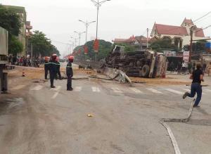 Hiện trường vụ tai nạn sáng 25.3.