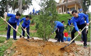 Bí thư Thường trực Trung ương Đoàn Nguyễn Anh Tuấn cùng lãnh đạo Tỉnh đoàn Yên Bái tham gia Tết trồng cây xuân Kỷ Hợi năm 2019 do Tỉnh đoàn Yên Bái tổ chức.