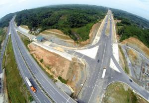 Nút giao IC12 kết nối thành phố Yên Bái với đường cao tốc Nội Bài - Lào Cai. (Ảnh: Thanh Miền)