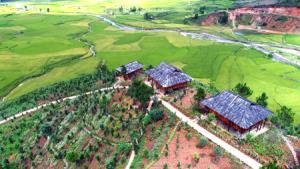 Mù Cang Chải Ecolodge - điểm du lịch sinh thái hấp dẫn ở bản Hua Khắt. (Ảnh: Thanh Miền)