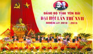 Đại hội Đảng bộ tỉnh Yên Bái lần thứ XVII, nhiệm kỳ 2010 - 2015. (Ảnh: T.L)