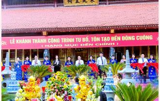 Khánh thành công trình tu bổ, tôn tạo đền Đông Cuông, huyện Văn Yên