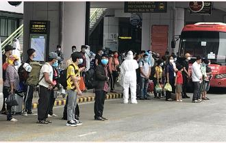Yên Bái đón 397 công dân từ thành phố Hồ Chí Minh và các tỉnh phía Nam về quê đợt 2