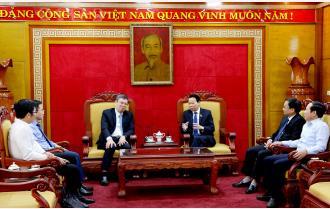 Bí thư Tỉnh ủy Đỗ Đức Duy tiếp và làm việc với Chủ tịch Hội đồng quản trị Ngân hàng TMCP Công thương Việt Nam