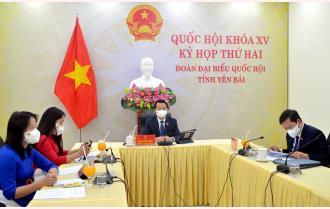 Đoàn Đại biểu Quốc hội tỉnh Yên Bái dự phiên khai mạc trực tuyến Kỳ họp thứ hai, Quốc hội khoá XV
