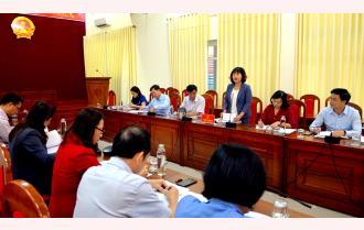 Thường trực HĐND tỉnh Yên Bái làm việc với UBND tỉnh về công tác quản lý nhà nước đảm bảo vệ sinh an toàn thực phẩm